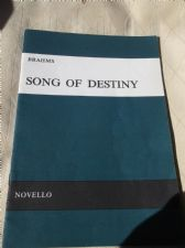 VINTAGE COLLECTABLE MUSIC BOOKLET NOVELLO BRAHMS SONG OF DESTINY 1971 VOCAL